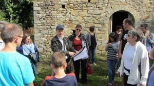 Loïc Gaudin, un guide précieux pour visiter et comprendre les lieux. |Chapelle de Chevré, La Bouëxière (35)